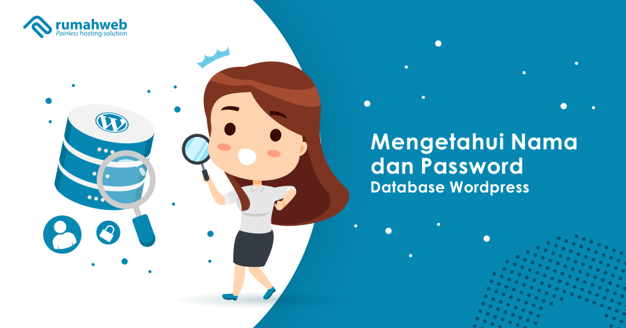 mengetahui nama dan password database wordpress
