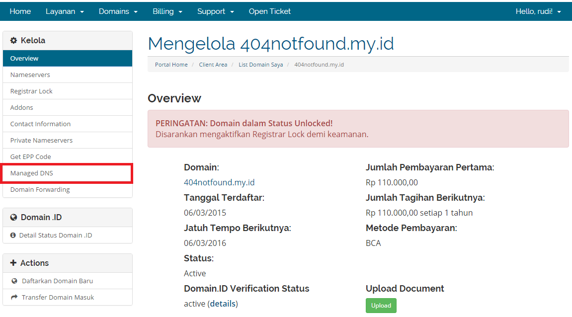 manage dns record mx