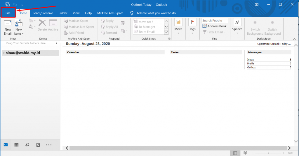 Setting POP3 Microsoft Outlook 2019 -  Pop3