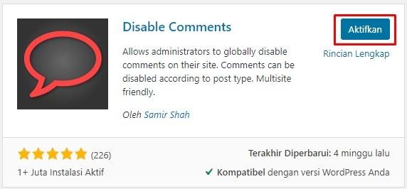 Cara Menonaktifkan Komentar Pada WordPress - dengan plugin 2