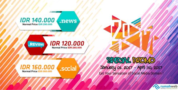 Sensasi Domain untuk Social Media