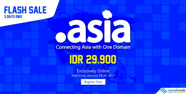 Promo Flash Sale Domain .ASIA